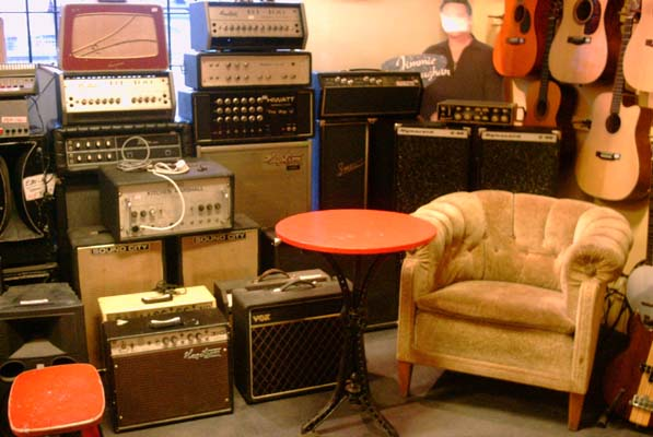 Lots of amps and a comfy chair.