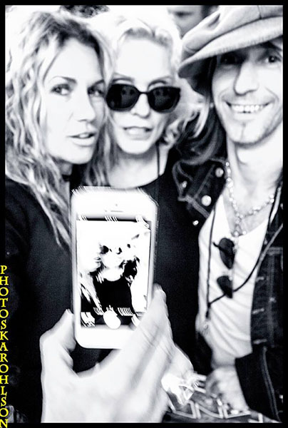Susanne Blomkvist,Debbie Harry and Stevie Klasson.