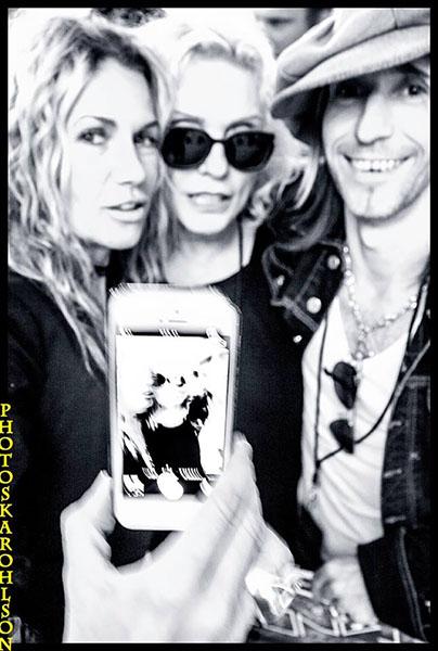 Susanne Blomkvist,Debbie Harry and Stevie Klasson.