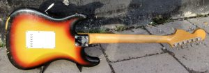 Fender Stratocaster back.