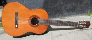Acoustic guitar front.